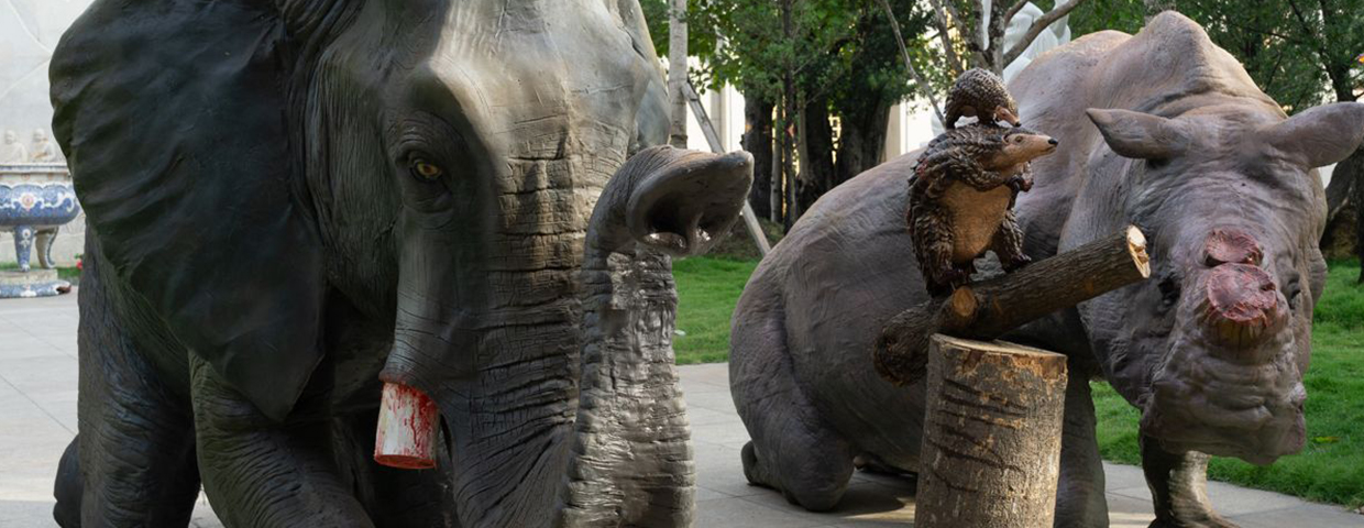 CAN GORY ANIMAL STATUES SHOCK VIETNAM INTO SHUNNING WILDLIFE PRODUCTS?